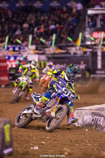 Justin Barcia got tight after the restart and dealt with severe arm pump.