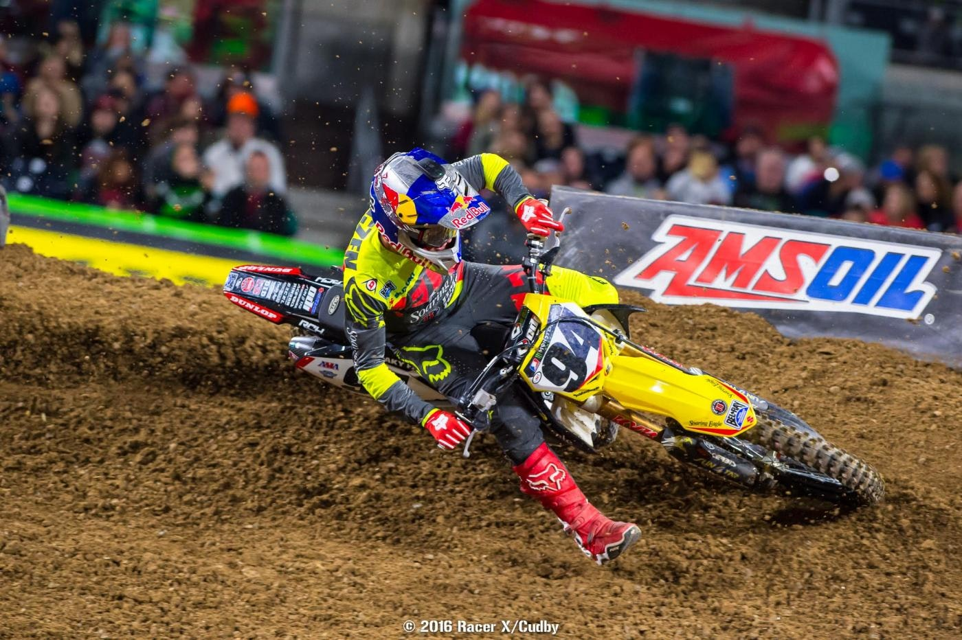 A mistake from Ken Roczen cost him a chance at the podium.