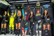 Savatgy (left), Webb and Smith on the podium in the 250 Class.