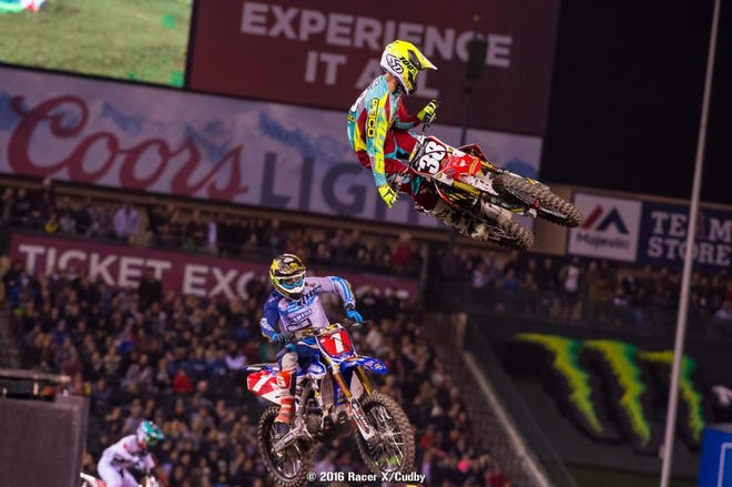 It was awesome watching Webb and Craig go at it in the 250SX main.