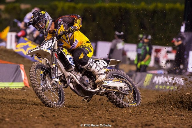 Osborne is digging deep in the 250 races, and is second in points right now.