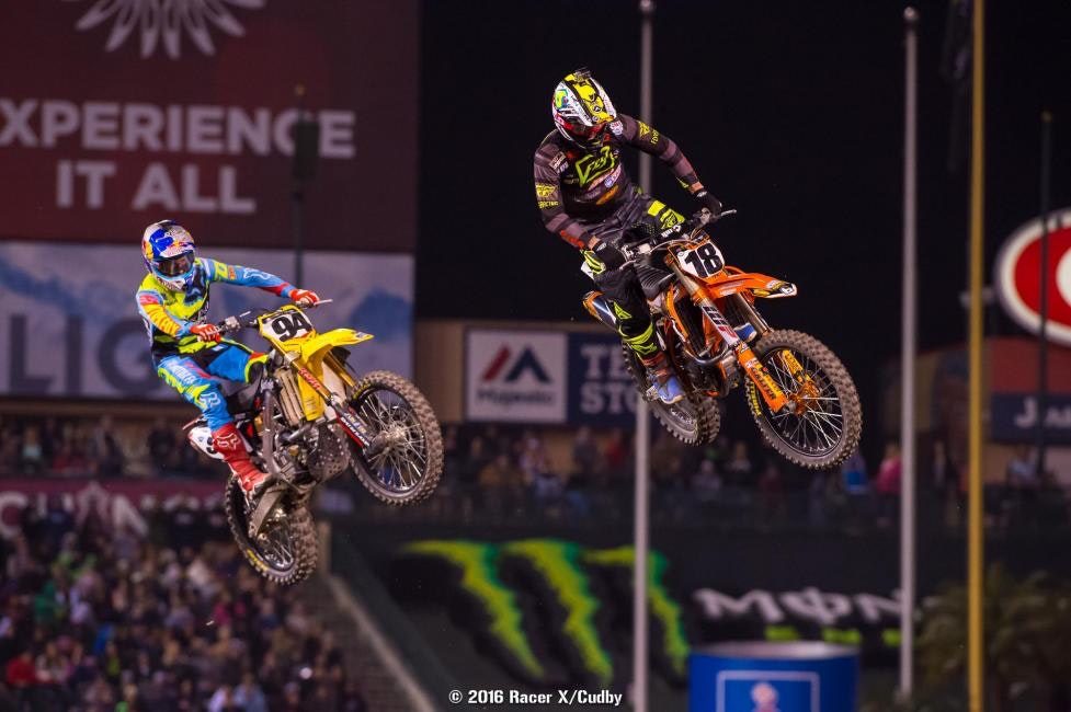 Millsaps had the early lead but couldn't quite hold up against the pace of Roczen and company--but it was better than any race he had last year. Or the year before, when he didn't even race. It's been a solid season for Davi so far.