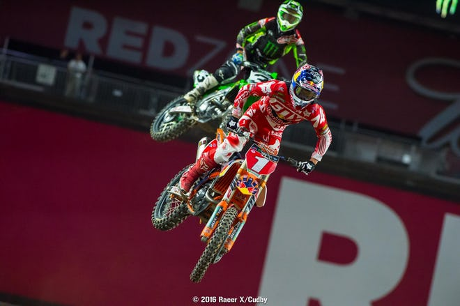 Dungey was able to get the better of Tomac down the stretch.