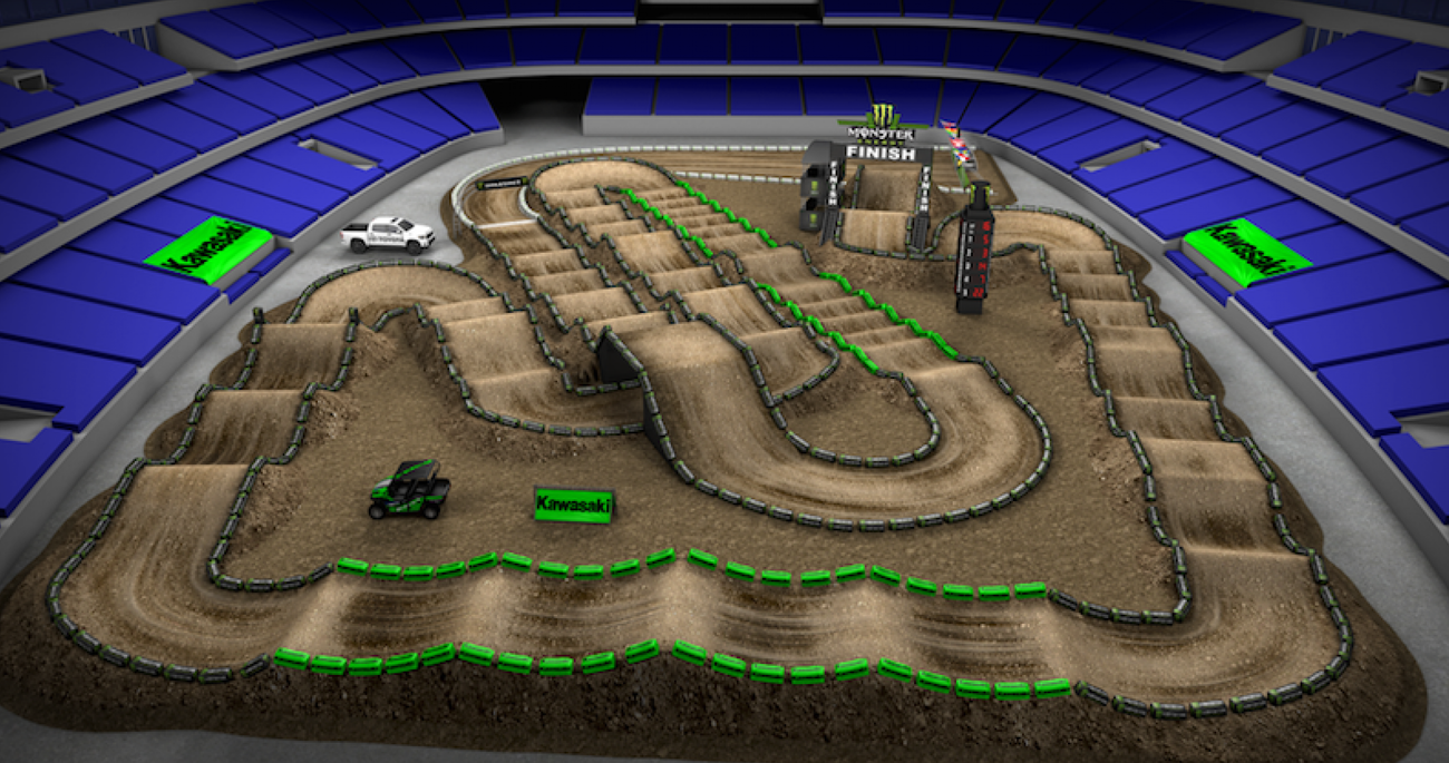 Arlington Animated Track Map Supercross Racer X Online