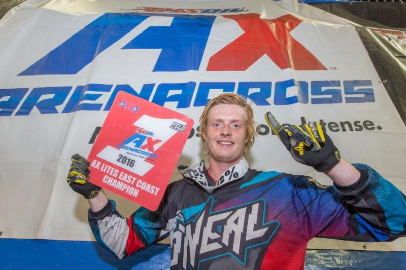 Herrlein is the 2016 Eastern Regional Arenacross Lites Class Champion.