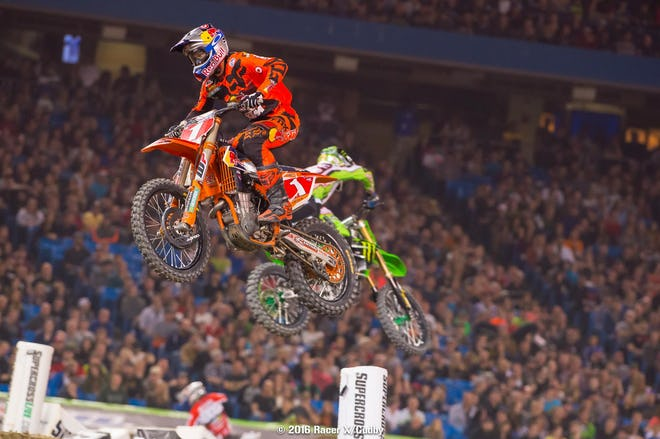 Dungey is still rock solid and now has the all-time consecutive podium record. But every week he's facing a stiff challenge--but usually from someone different each time.