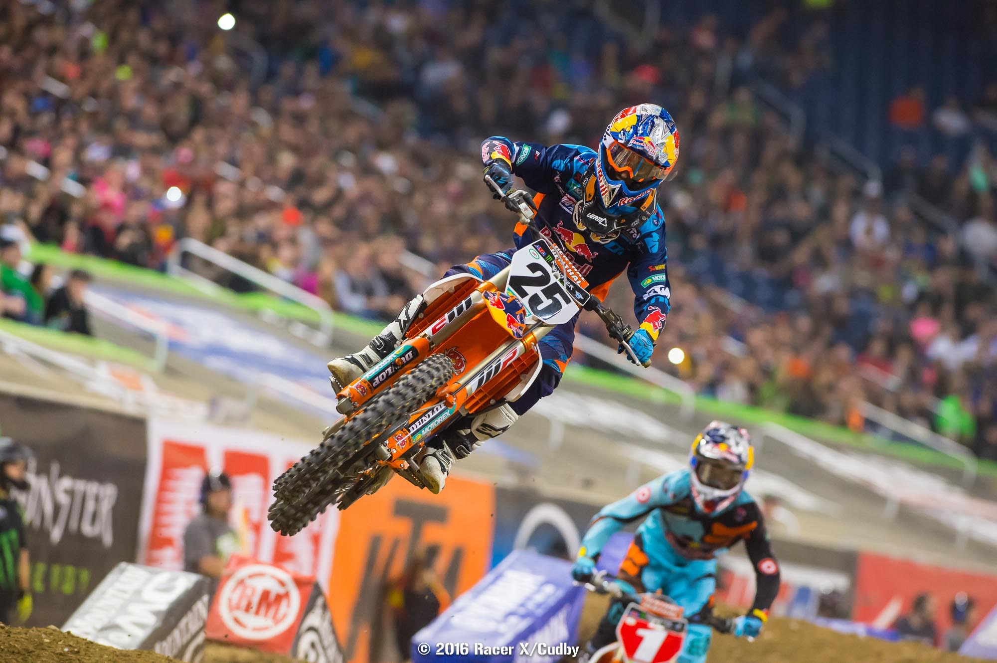 Musquin led briefly but Dungey got him in the whoops.