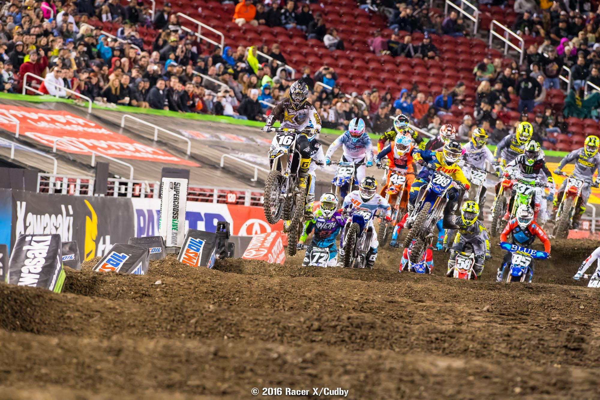Zach Osborne won his heat, holeshot the main, and led eleven laps in the main.