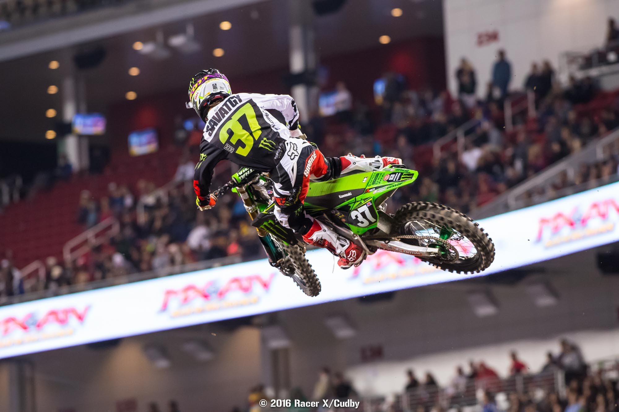 Joey Savatgy has one race left to overcome the sixteen-point gap between him and Cooper Webb.