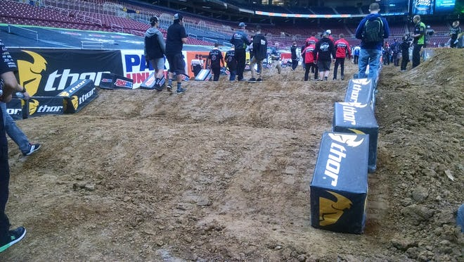 Nothing insane about these whoops, but they could get rutted and nasty in tonight's mains.