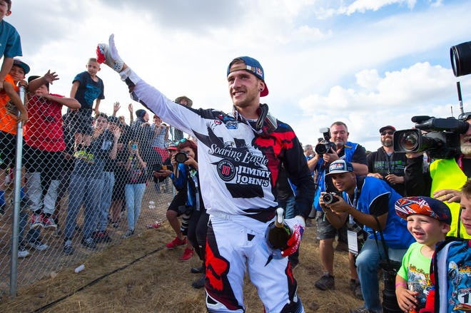 Roczen leaves Hangtown with the red plate, something he hasn't had in long time.