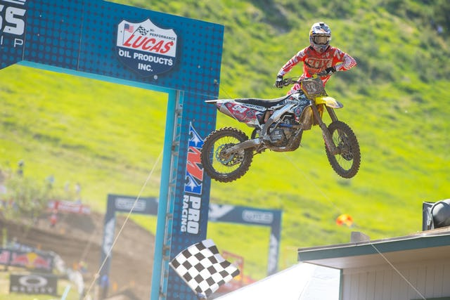 Ken Roczen busted out a Nac-Nac after yet another impressive win.