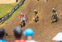 They battled to get around Cole Seely, who rode excellent early in moto one.