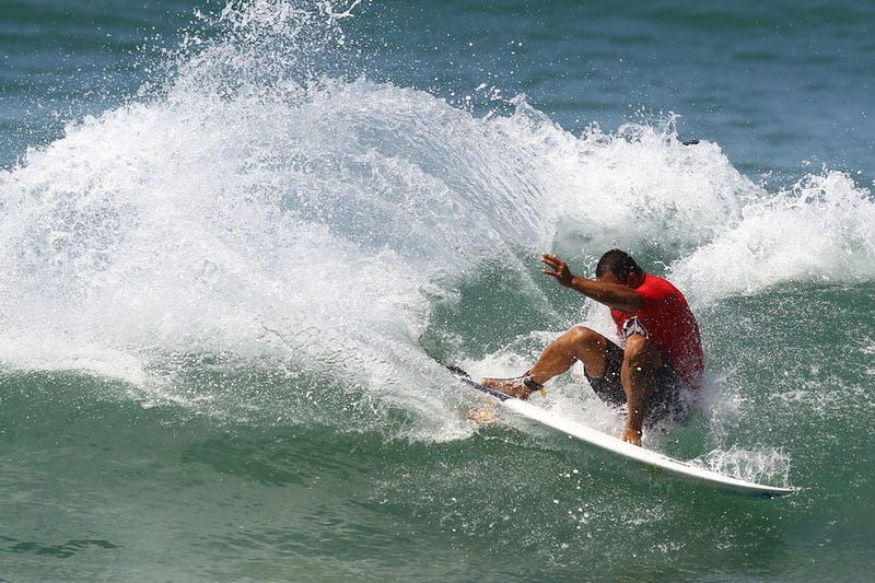 Sunny Garcia is a four-time winner of this event and one of the guys who pushes each year to keep it going. Watching Sunny and the pro surfers do their thing in the water is really cool.