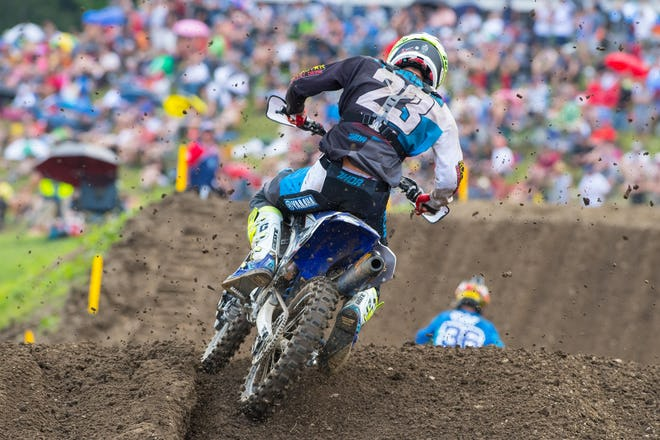 Plessinger logged some heaters in moto one, going as much as five seconds faster than anyone on the track at onepoint. He was even happier with moto two because he got a good start and didn't get arm pump, which he says has been an issue all year. It all added up to second overall.