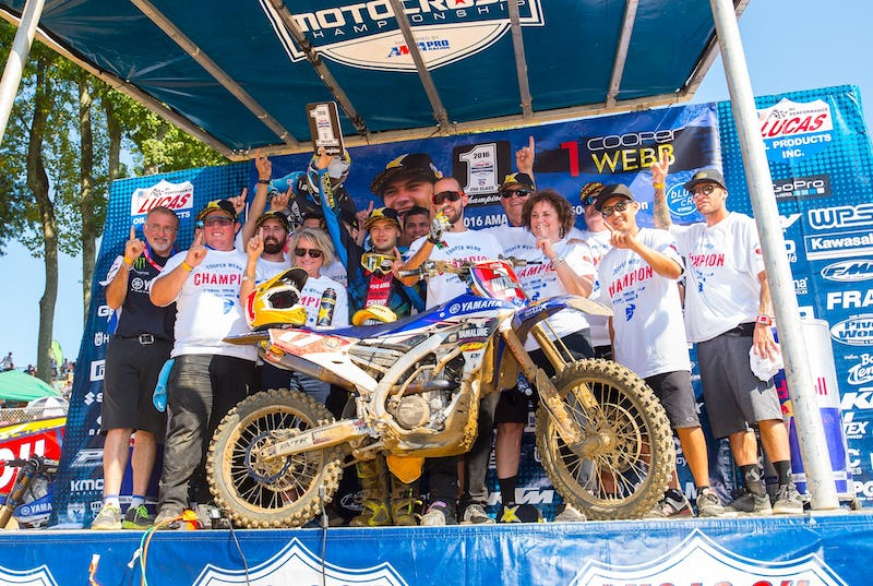 Webb's championship marks the third straight for Yamalube/Star Racing Yamaha.