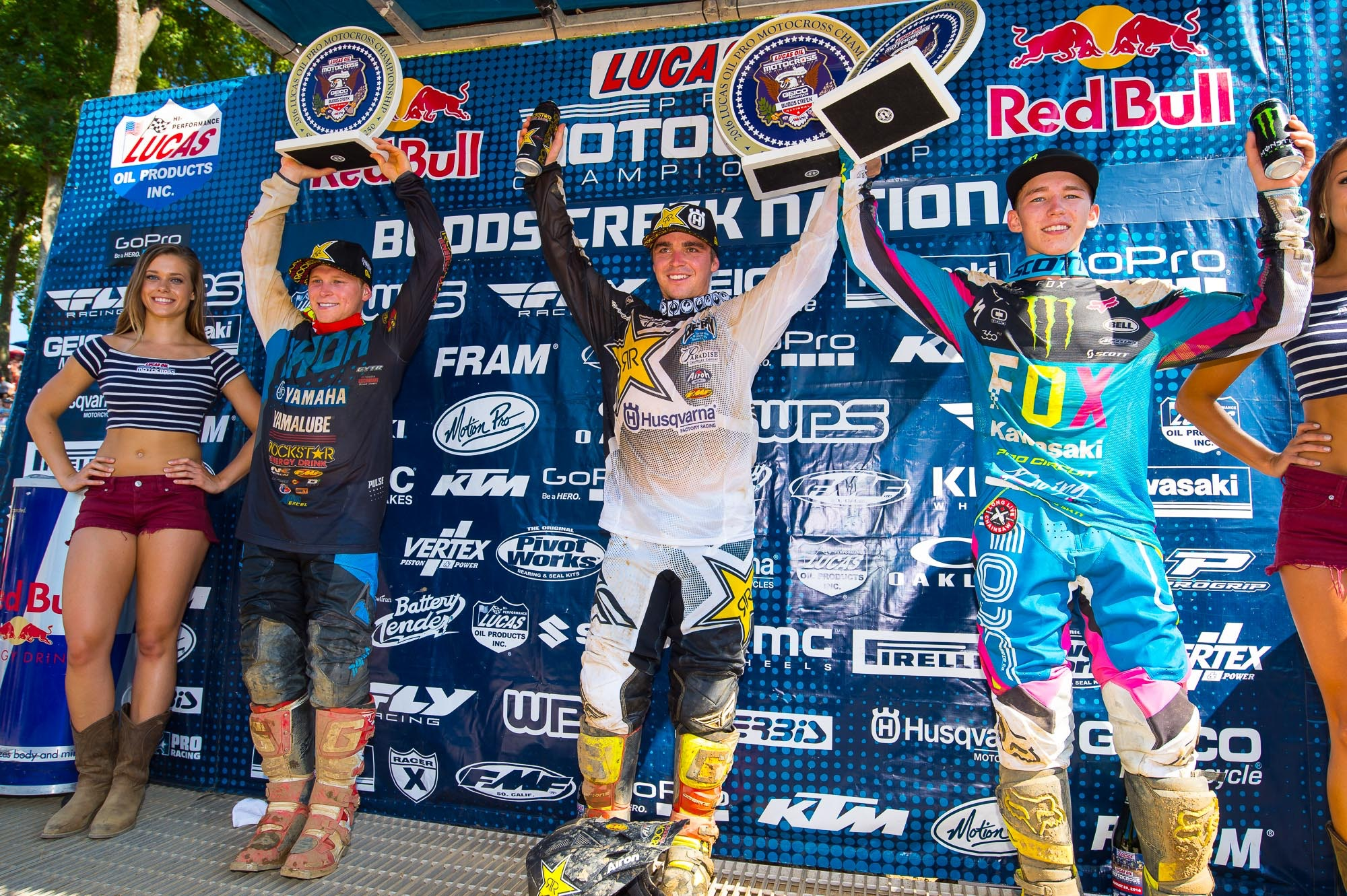 Alex Martin (left) and Austin Forkner (right) rounded out the 250 podium.