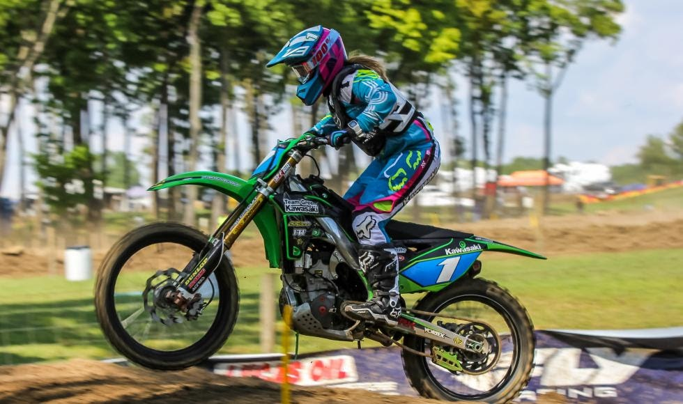 Kylie Fasnacht took home the overall win at Ironman Raceway with a pair of first place moto finishes.