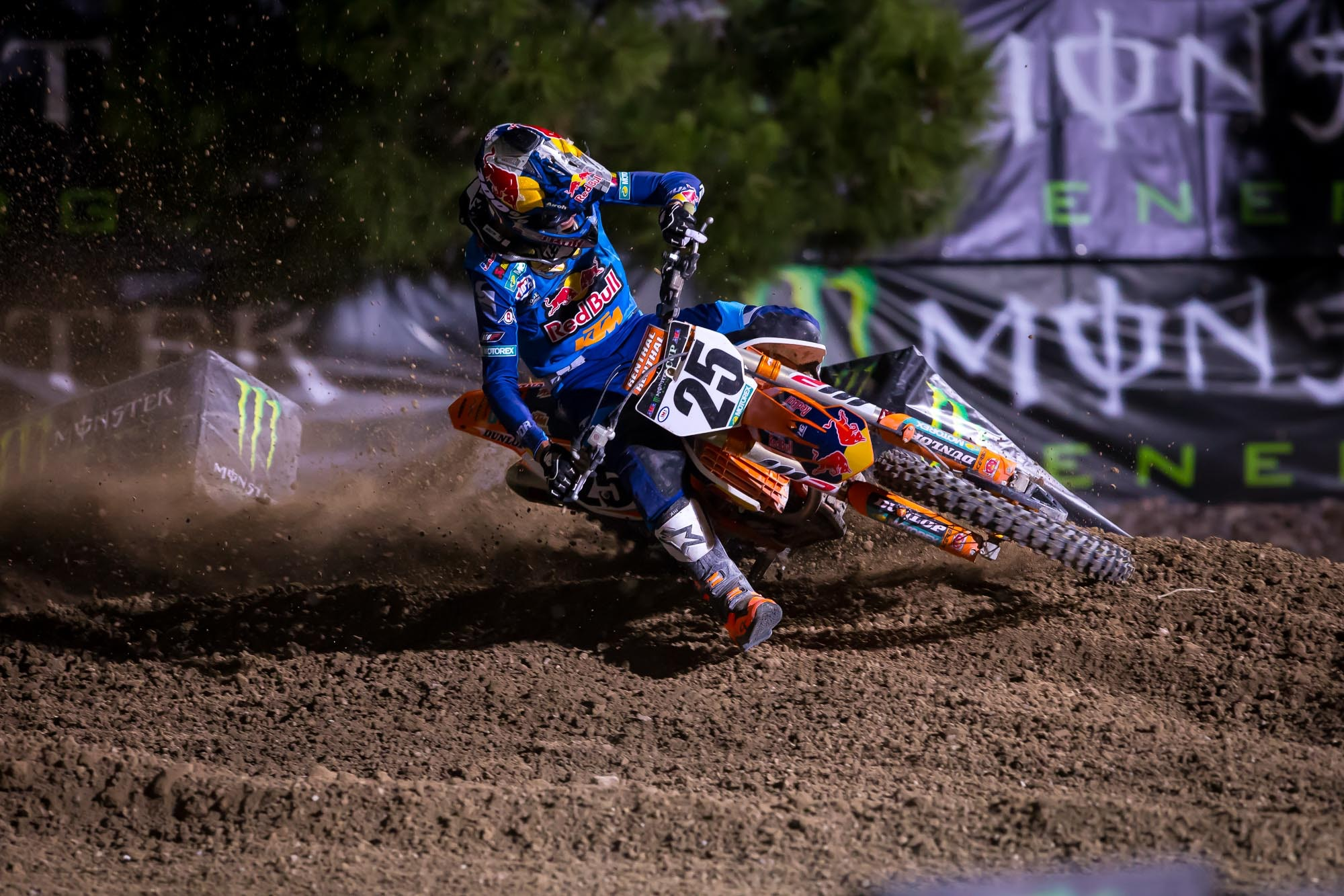 Marvin Musquin was fast tonight, going 4-3-2 for third overall.