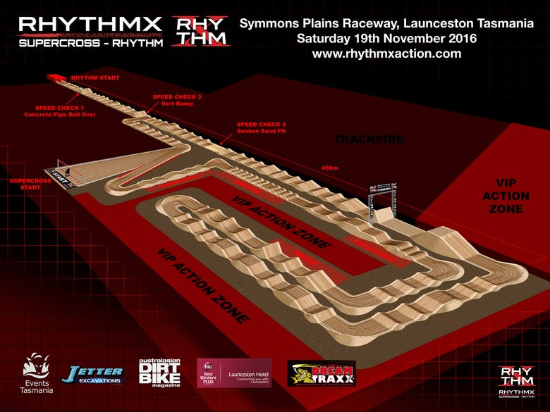 Straight Rhythm track and supercross track combined a few weeks from now Down Under.