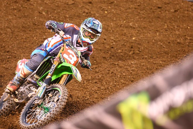 Tomac wasn't able to work through the pack like he did last weekend.