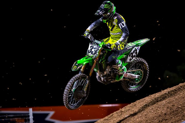 Tomac's teammate Josh Grant did all he could, logging his best supercross race in years in hopes of catching Dungey and stealing points. He slipped past during the final Tomac/Dungey scrap on the last lap and grabbed third.