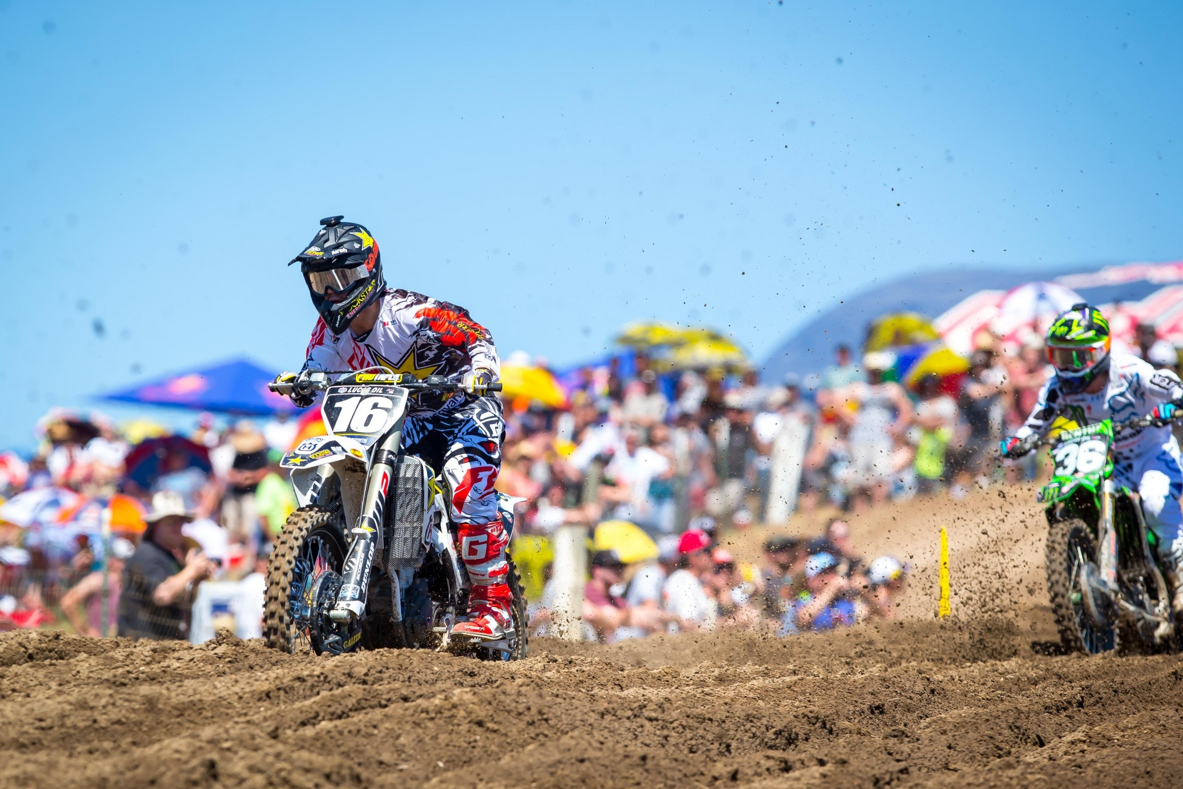 Osborne wrestled the lead from Cianciarulo, who ended up second in the first moto.