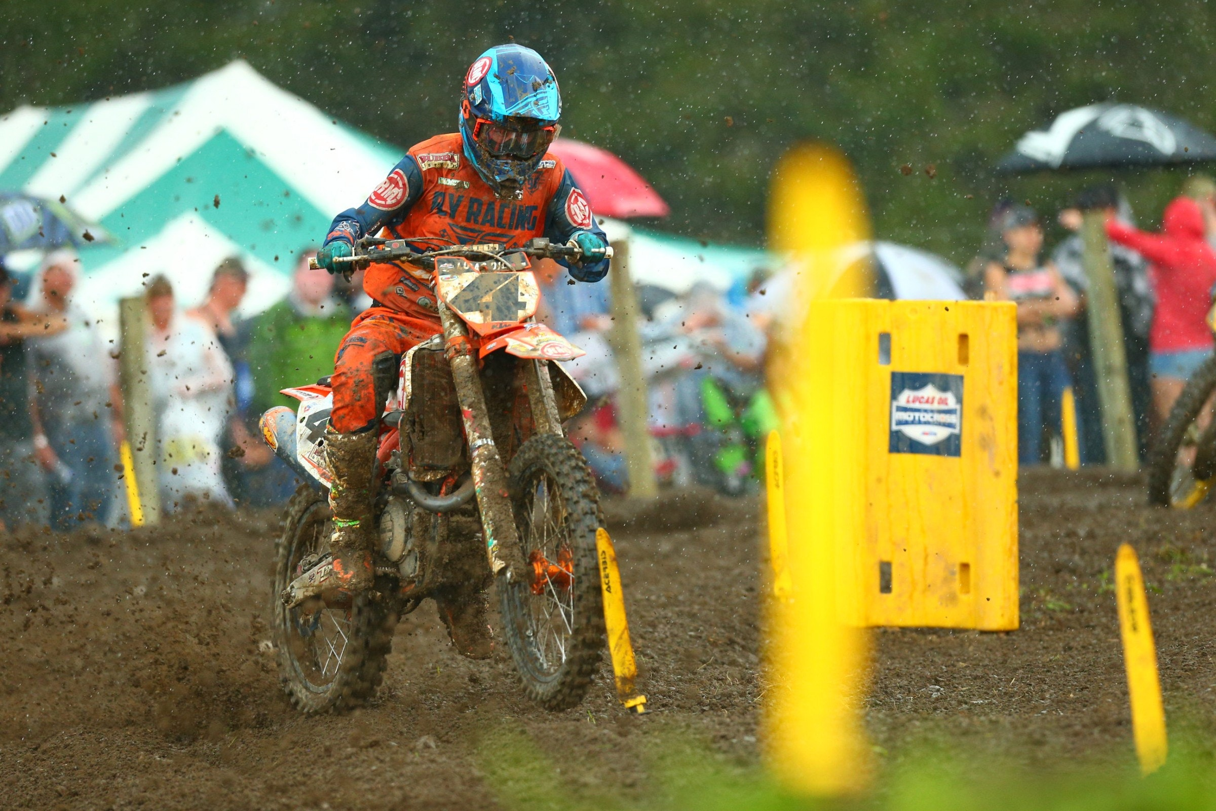 Baggett dug deep to challenge Musquin in moto one, but couldn't find the magic again in moto two.