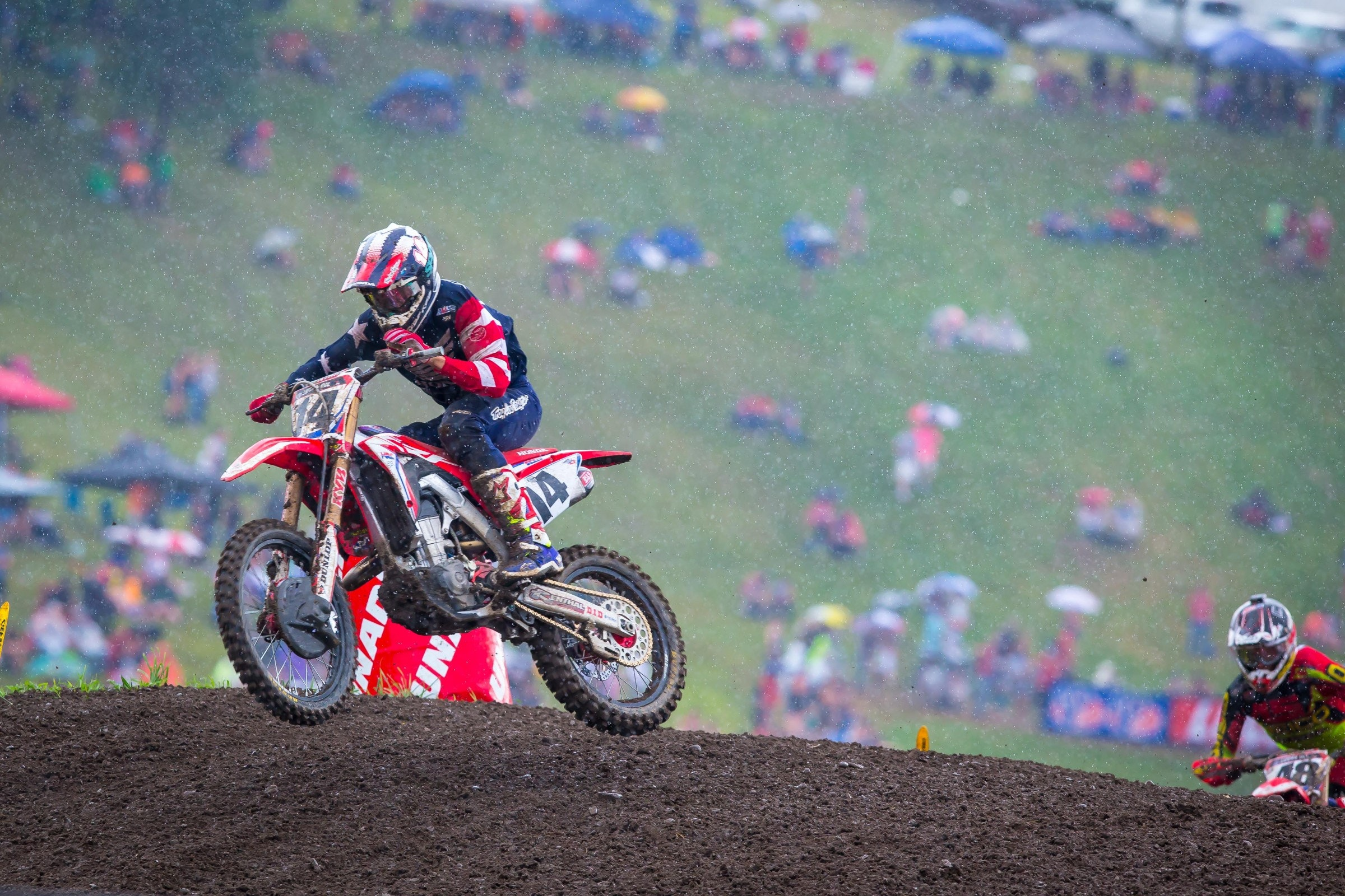On the day he was named to Team USA, Cole Seely rode well in tough conditions for a third overall.