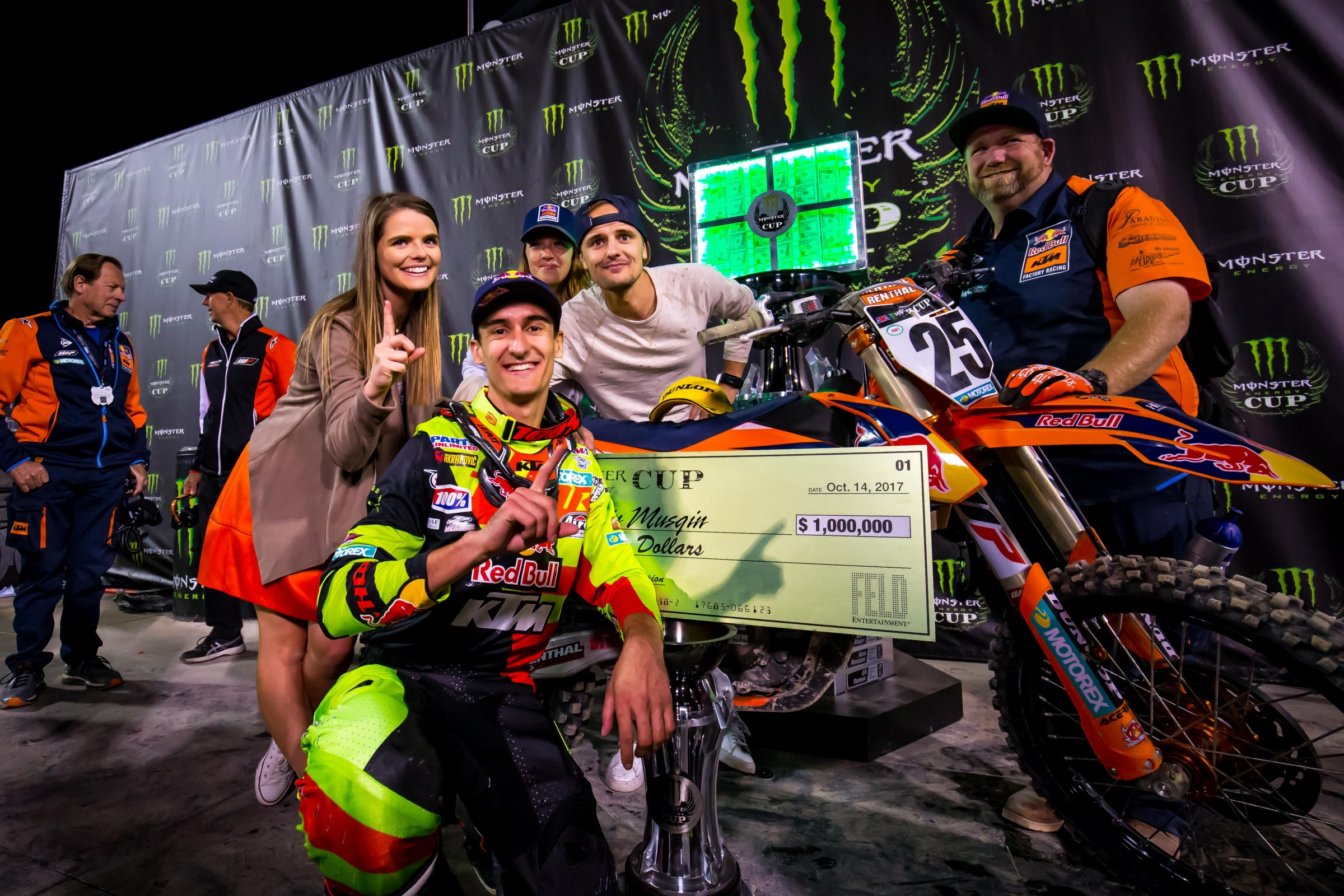 Musquin is only the second rider in history to win the Monster Million.