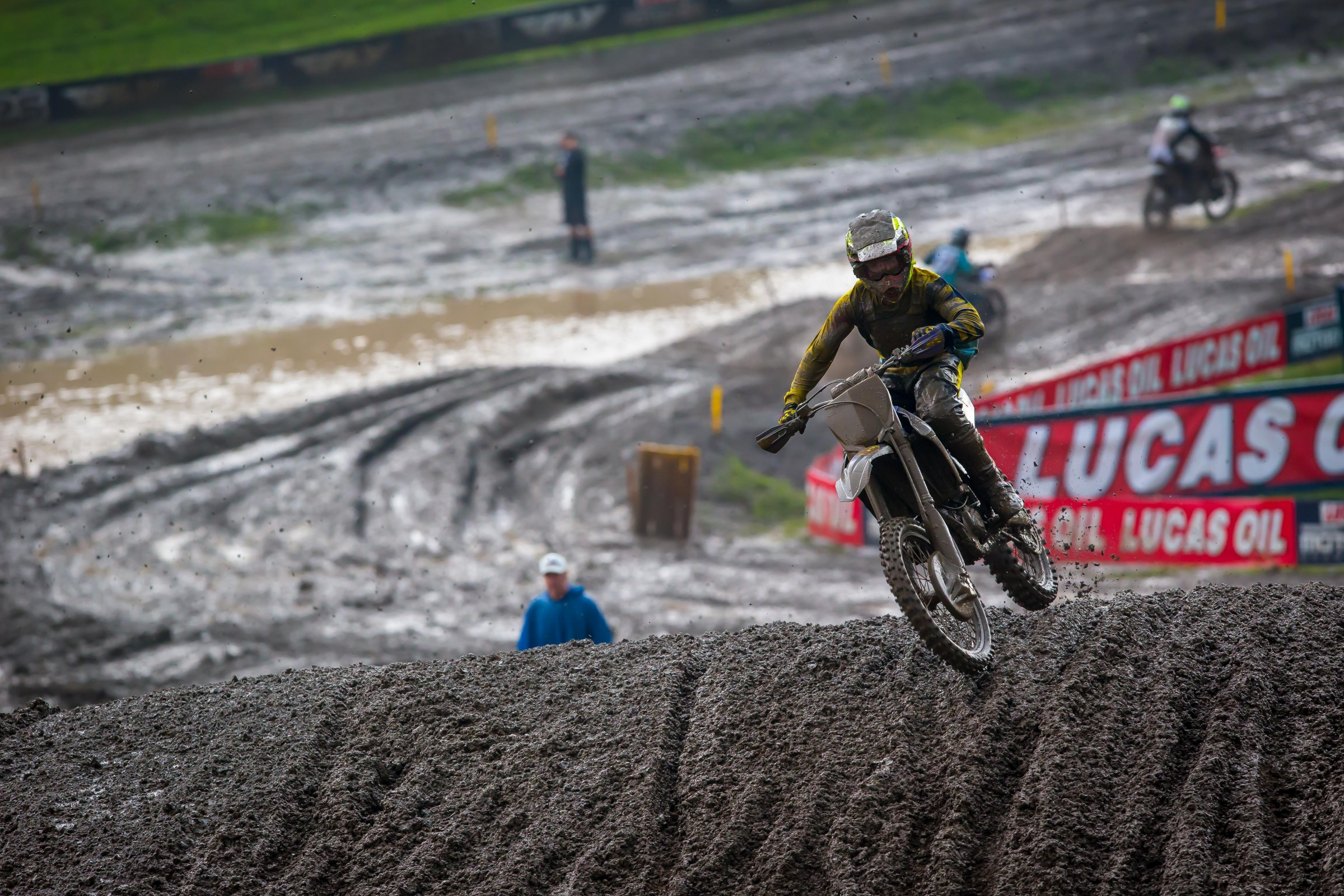 Cooper finished second in the second moto at his home national at Unadilla.