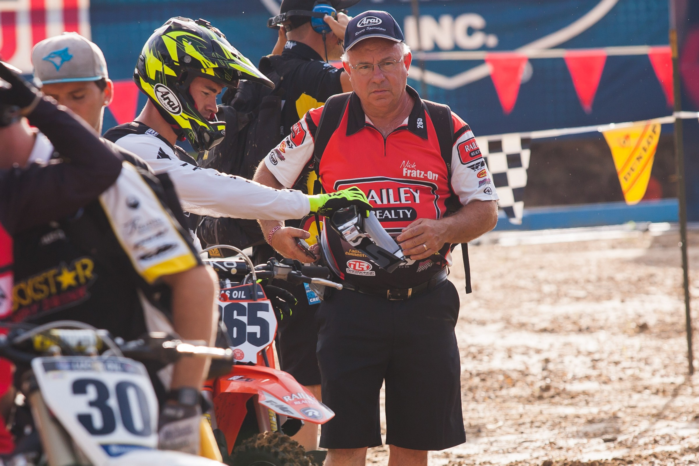 Nick and his father, Rich, at Budds Creek.