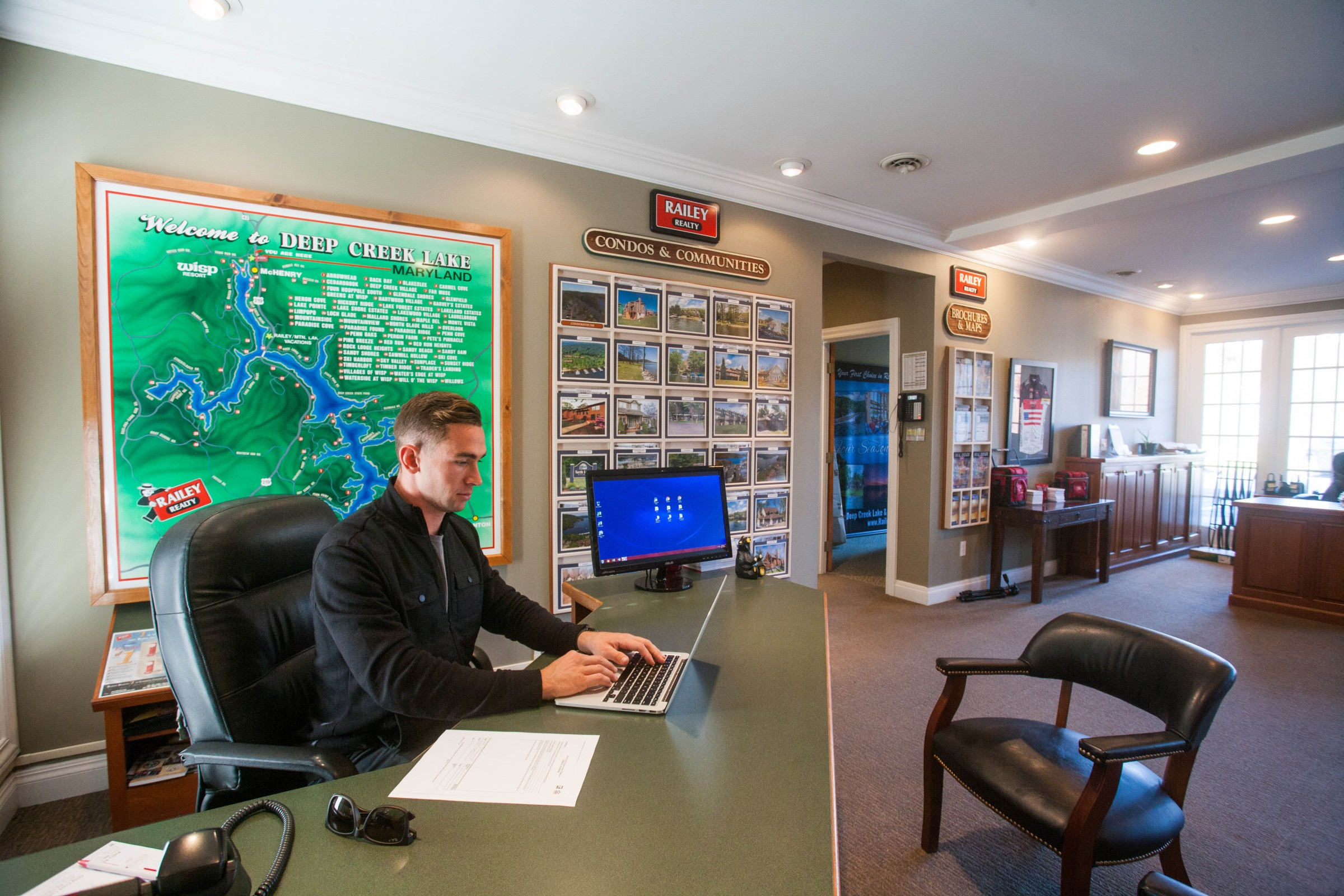Nick at the Railey Realty office.