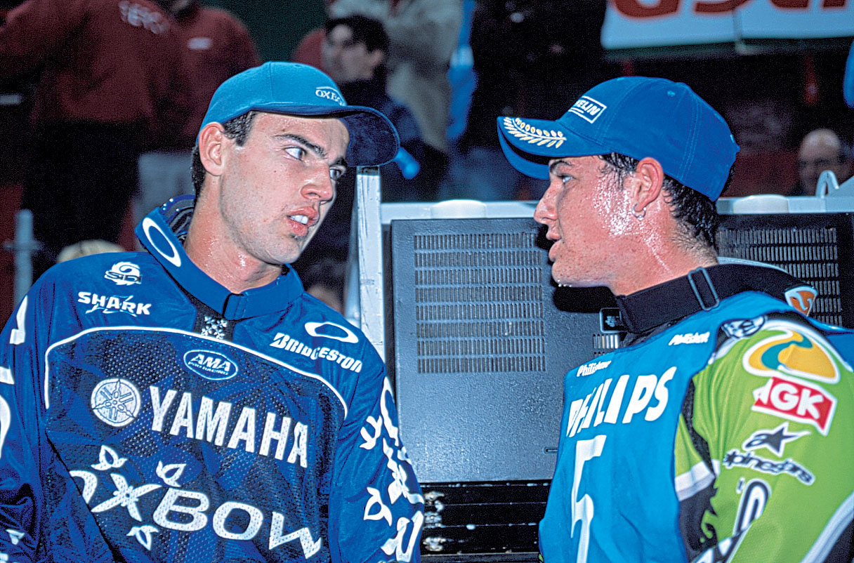 David Vuillemin (left) and Chad Reed in 2001.