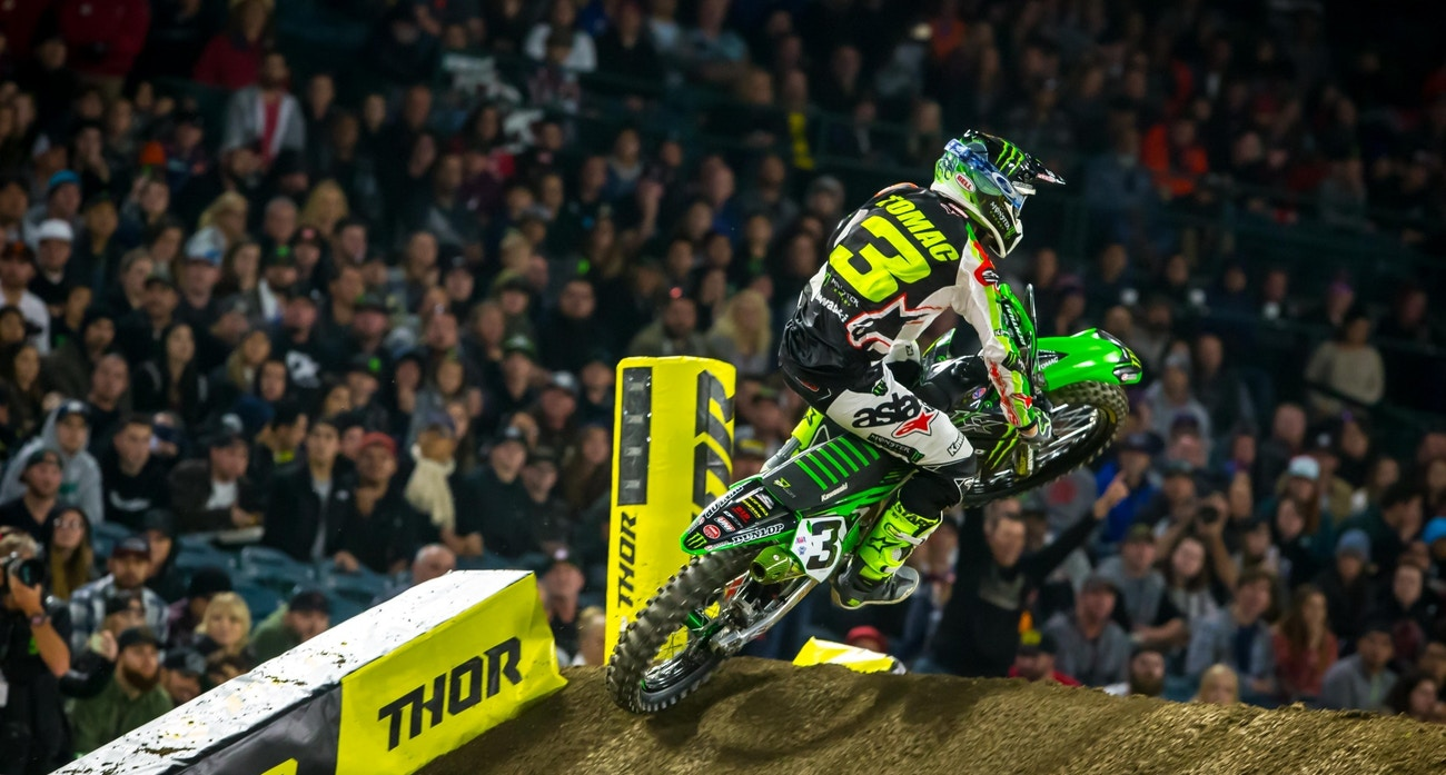 Honda Of Houston >> Eli Tomac Suffers Shoulder Contusion at Anaheim 1 [Update: Out for Houston] - Supercross - Racer ...
