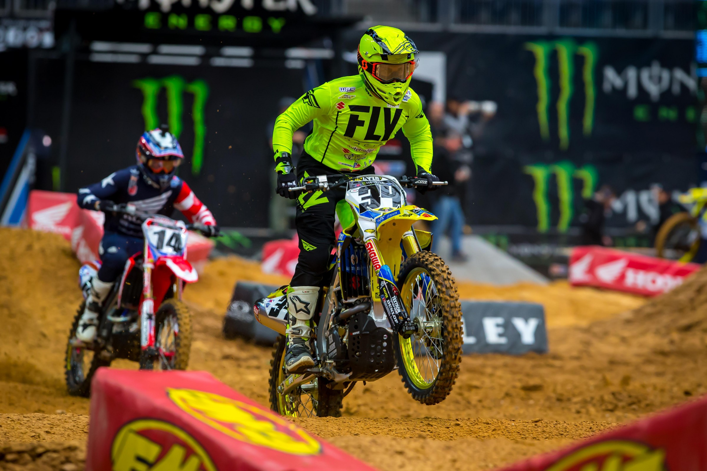 Weston Peick battled hard the whole way and took fifth for the second straight week. Cole Seely was able to get around him, though, and at one point even got Barcia for third. Barcia got him back, though.