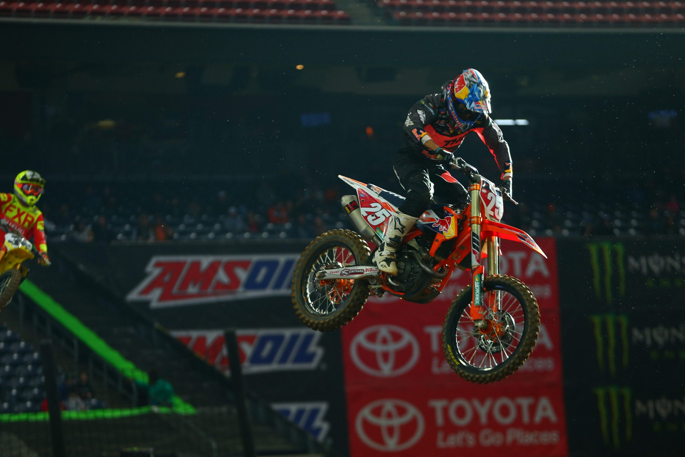 Musquin goes from points leader to zero points scored at round two. He hopes to be back for round three.