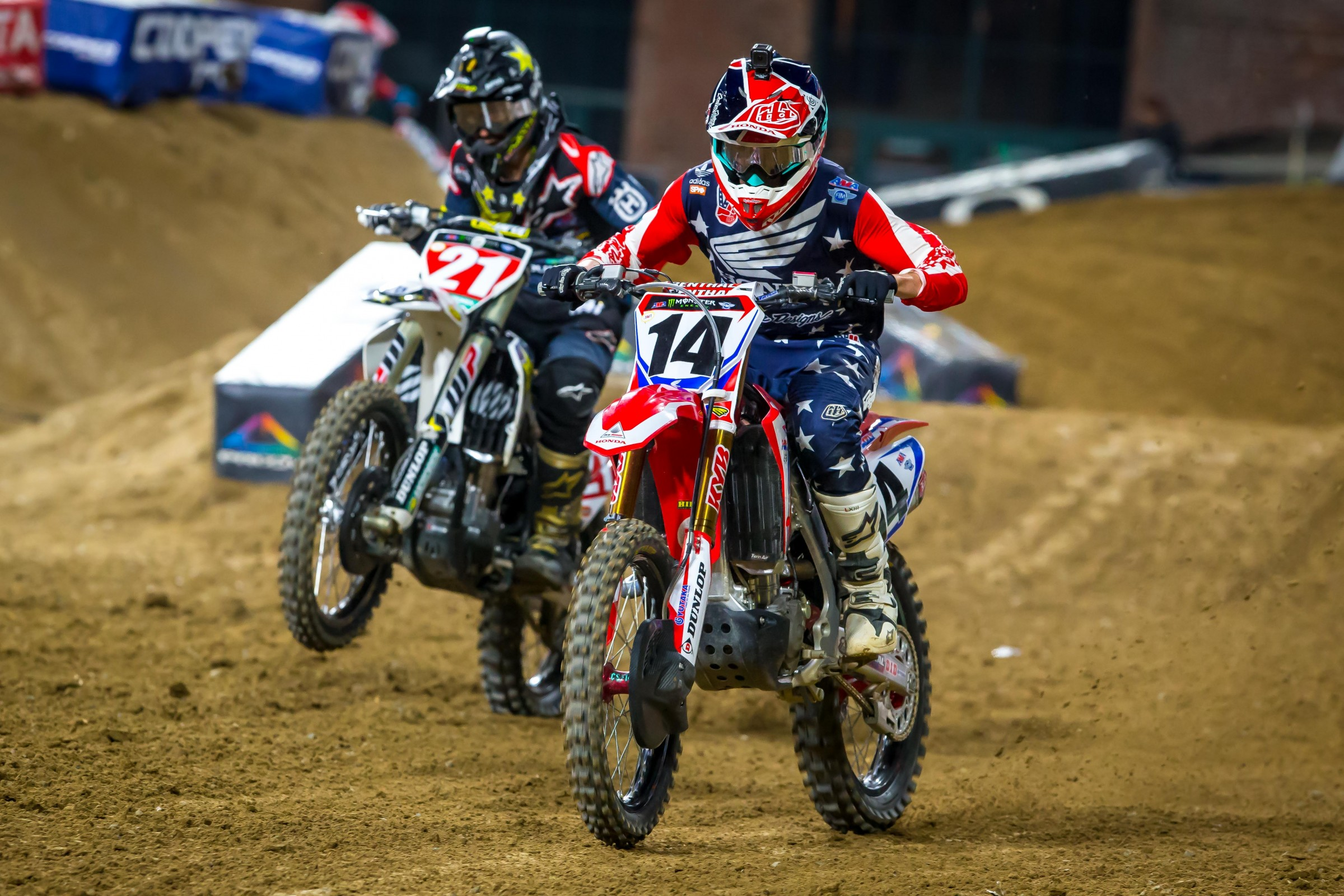 Cole Seely was excellent and even led for twelve laps before sliding back to fourth.