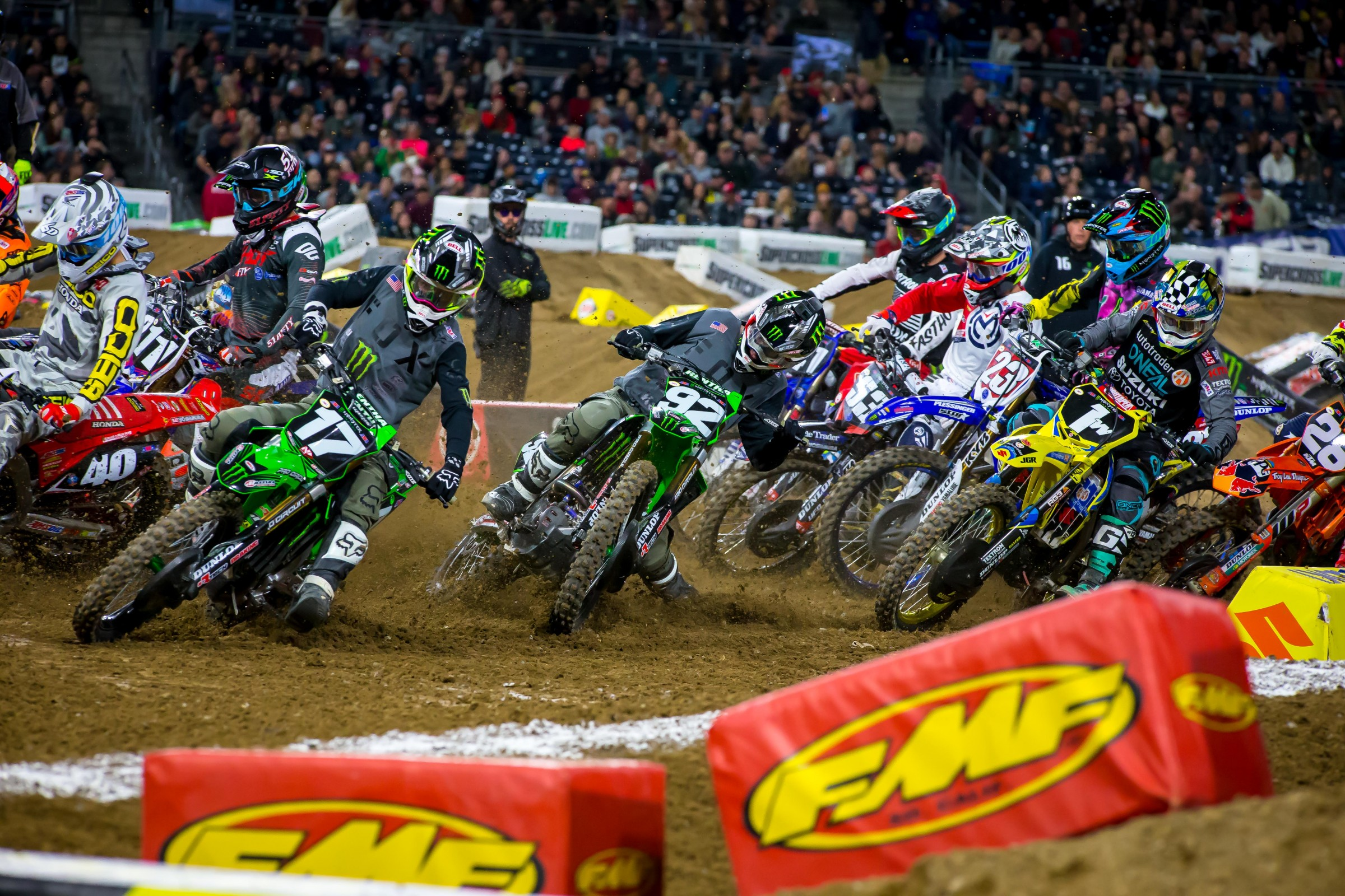 Adam Cianciarulo and Joey Savatgy were killing the starts all day.