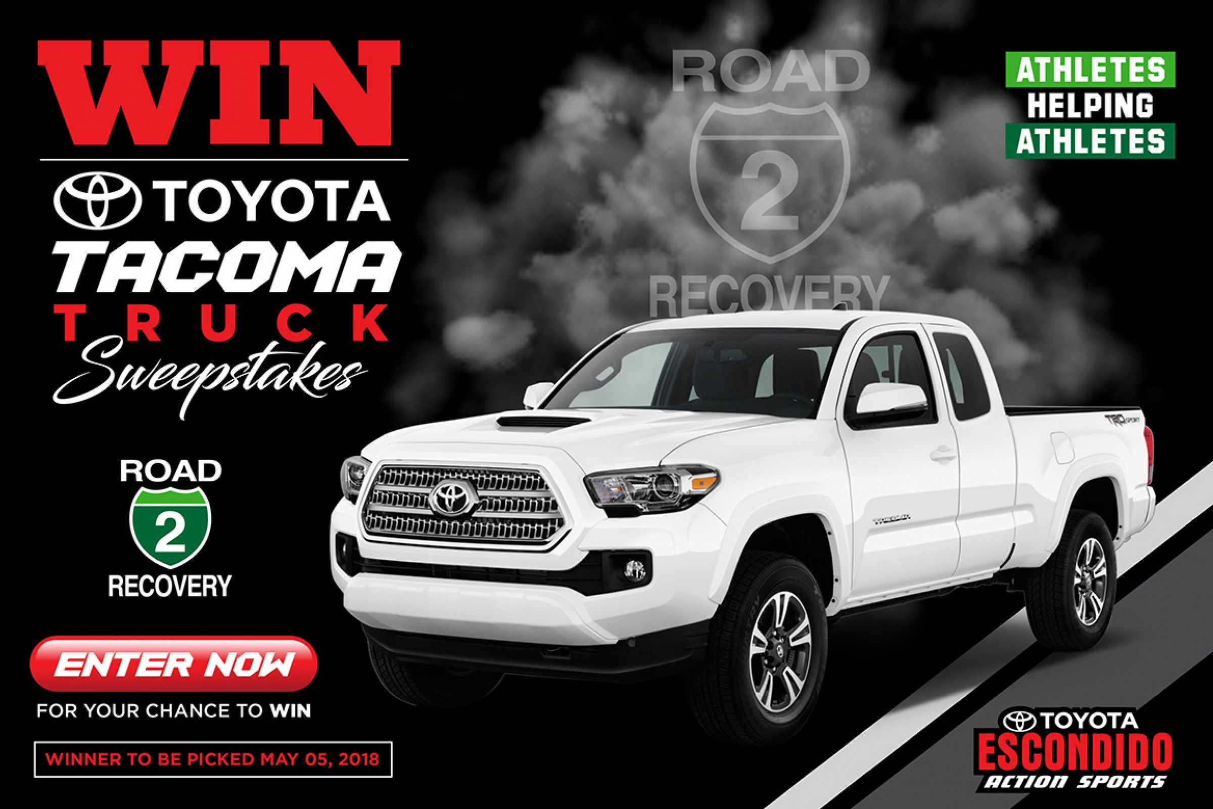 Toyota Sweepstakes To Benefit Road 2 Recovery Foundation Racer X