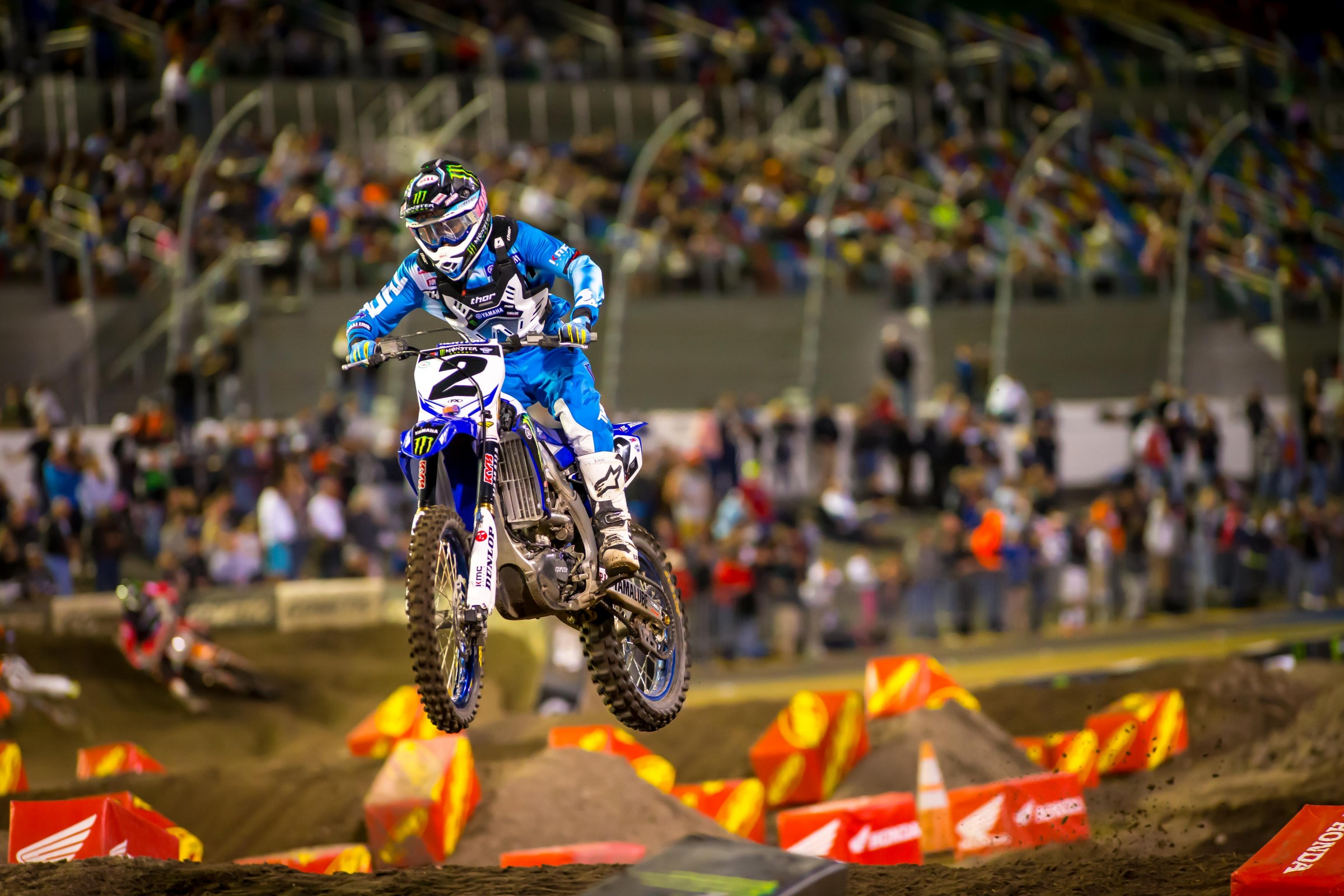Cooper Webb captured his first podium of the year on Saturday.
