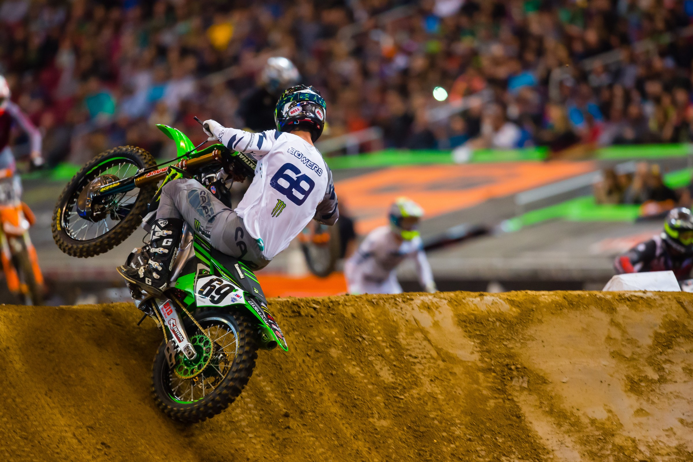 Bowers, riding as a fill-in for Josh Grant with Monster Energy Kawasaki, left St. Louis with a 14th-place finish.