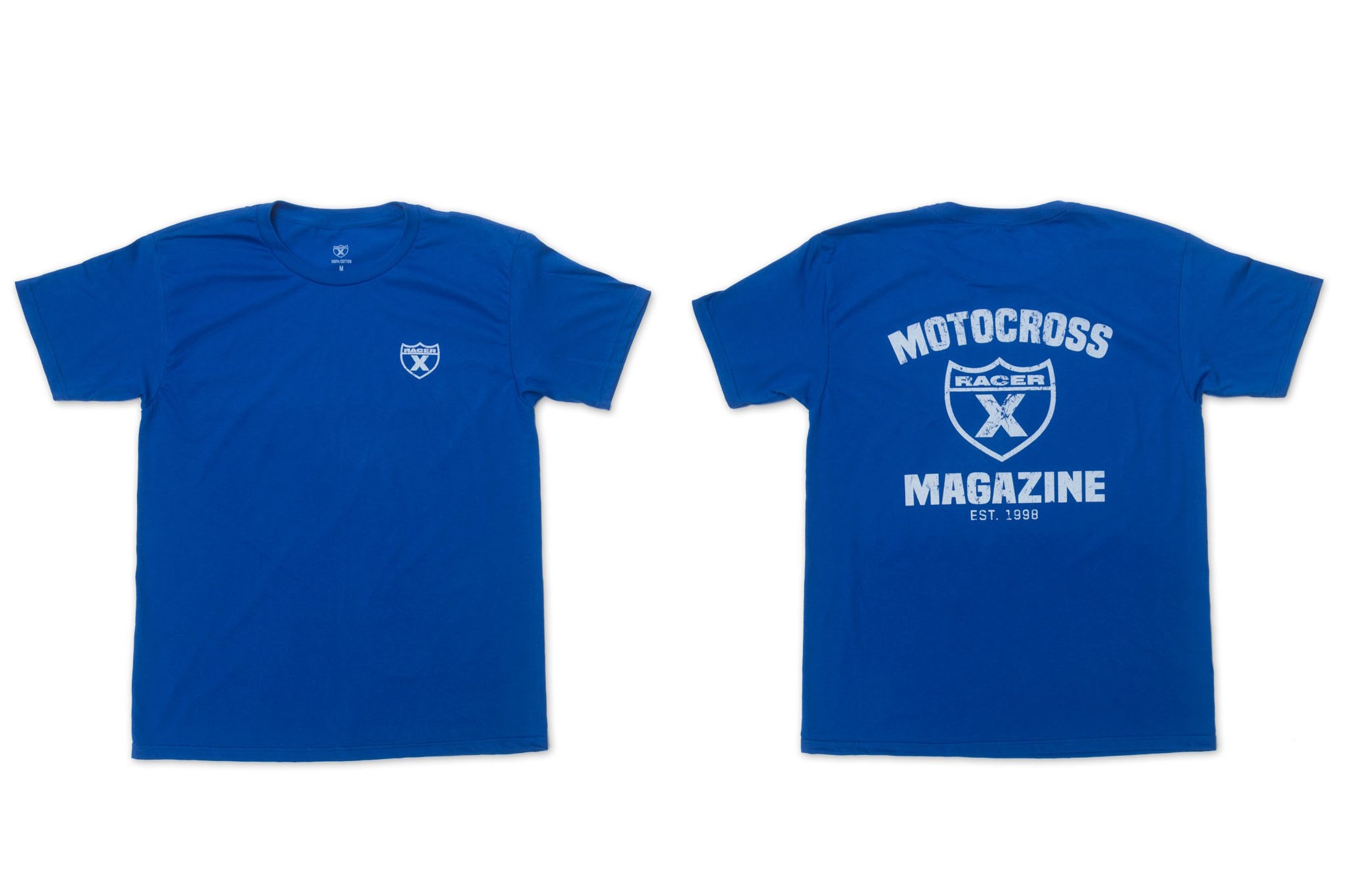 Find the Blue Moto Mag Shirt today and other new products on Racer X Brand. Everything you want it to be and more. Relaxed fit,100 percent cotton.