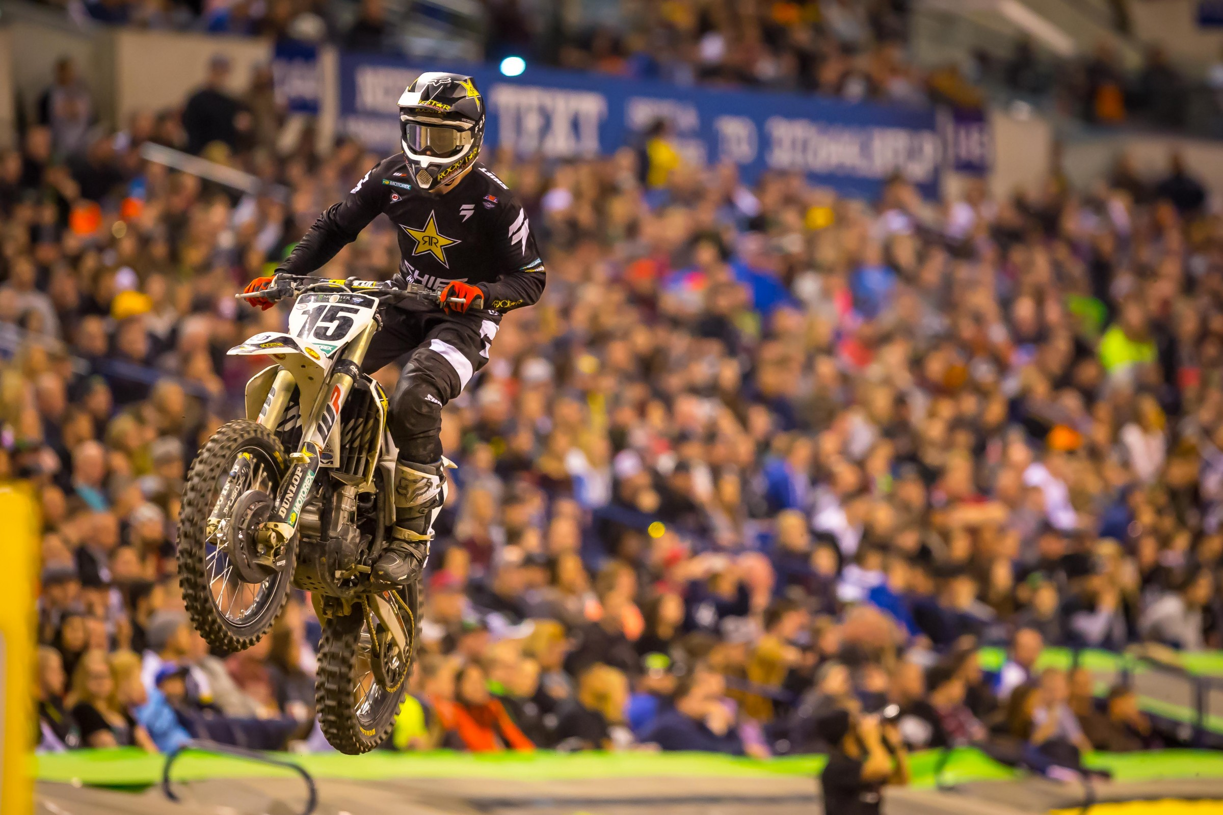 Wilson made the 450SX podium for the first time at Indianapolis.