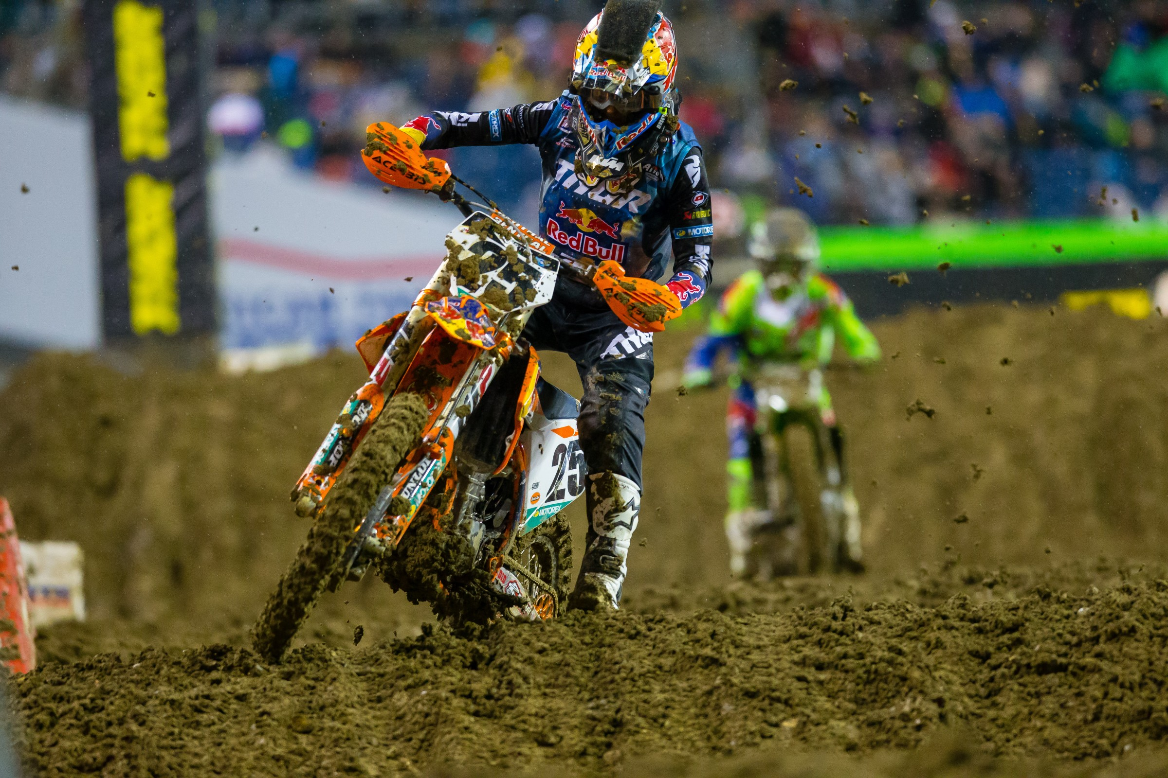 Musquin finished third in Seattle behind Tomac and Anderson.