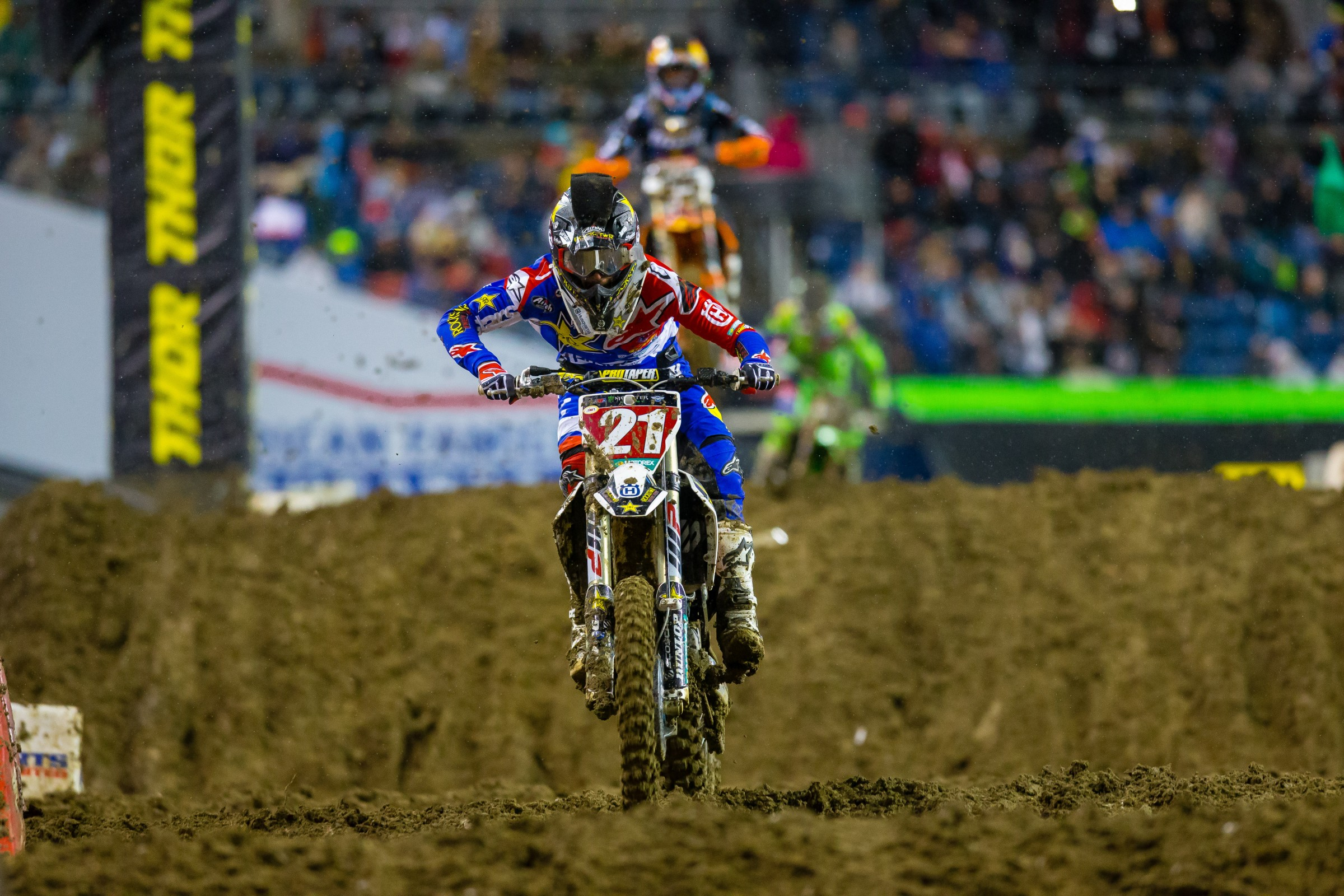 Anderson gained two points on Musquin with a second-place finish in Seattle, leaving him with a 37-point lead.