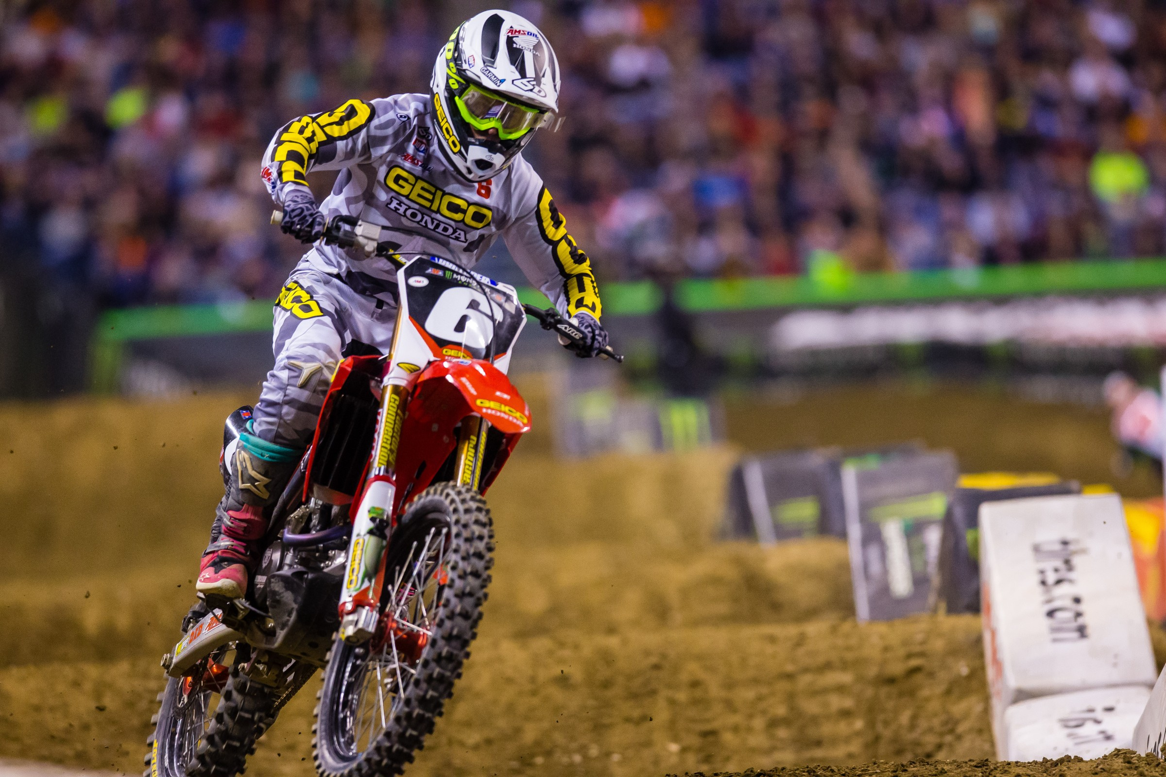 Martin currently sits in fourth place in 250SX East Region championship standings with 112 points.