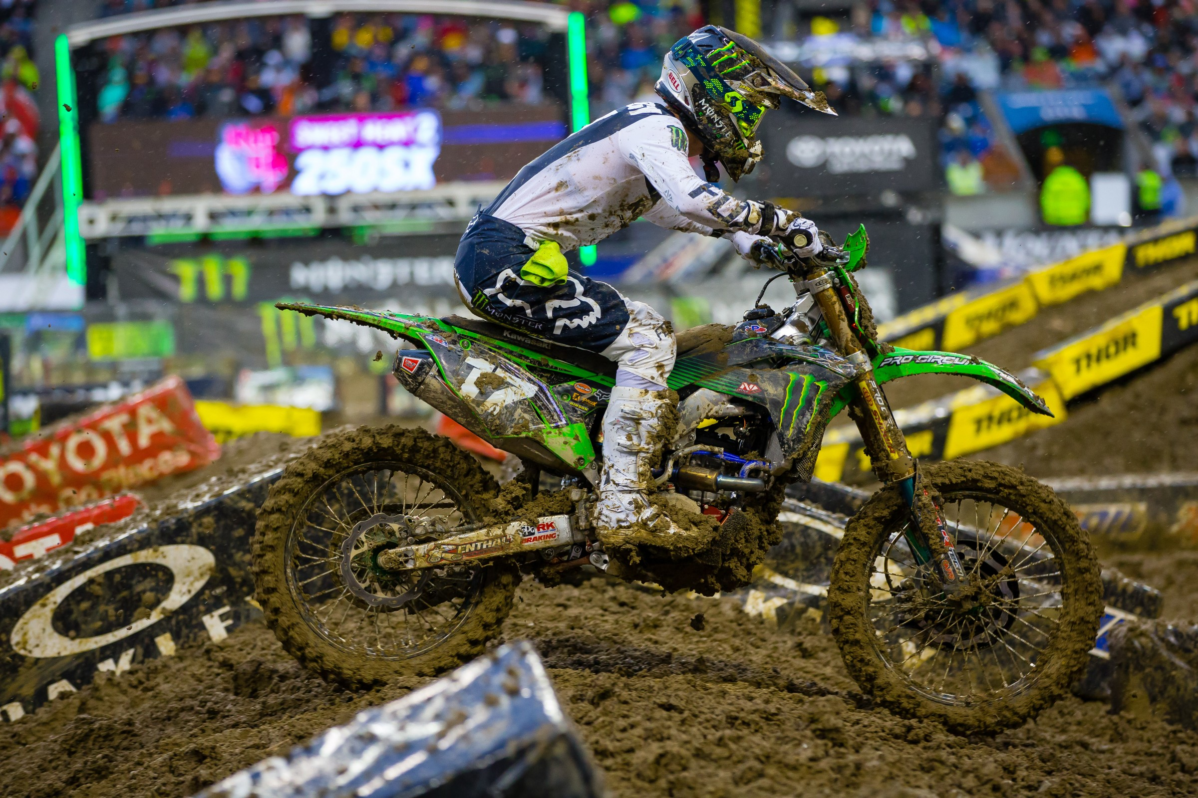 Finishing 12th on the night, an unfortunate crash in Seattle cost Savatgy a valuable chance to make up points on Plessinger.