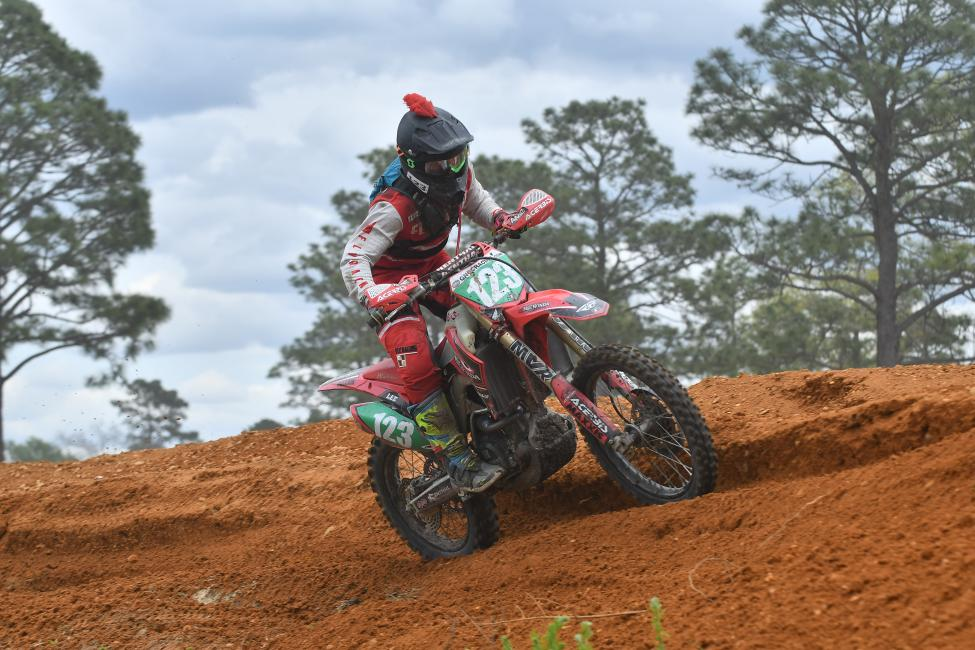 Austin Lee rounded out the top three in the XC2 250 Pro class at the Camp Coker Bullet GNCC.