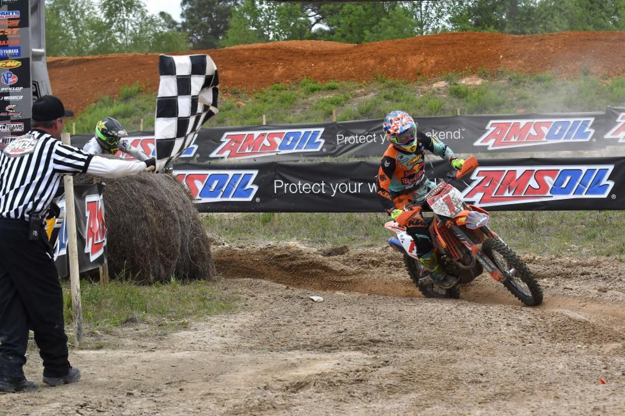 Kailub Russell Edges Thad Duvall at Camp Coker Bullet GNCC